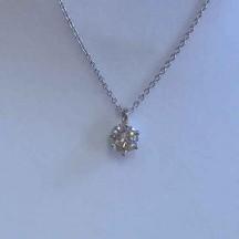 Collier chaton 6 griffes avec diamant