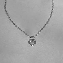 Collier pneu or gris diamant