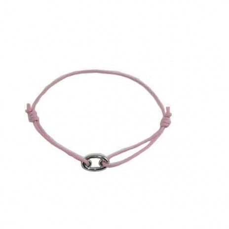 Bracelet cordon motif or forme ovale