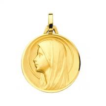 Médaille vierge auréolée de profil