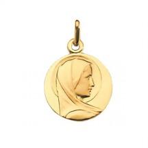 Médaille vierge de profil