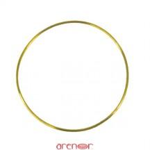 Bracelet jonc massif or jaune fil rond