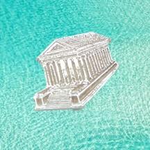 Pin's argent Maison Carrée de Nîmes