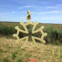 Croix or jaune du Languedoc petit modèle