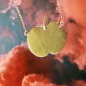 Collier pomme or bicolore