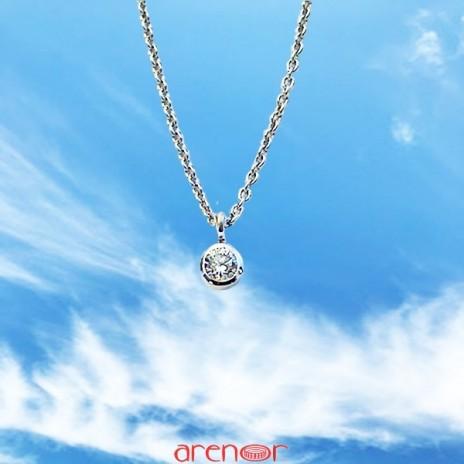 Collier tube avec diamant