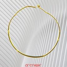 Collier jonc articulé neuf brins en or jaune