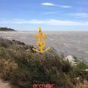 Croix or jaune des Saintes Maries de la Mer petit modèle