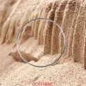 Bracelet jonc massif fil rond or gris