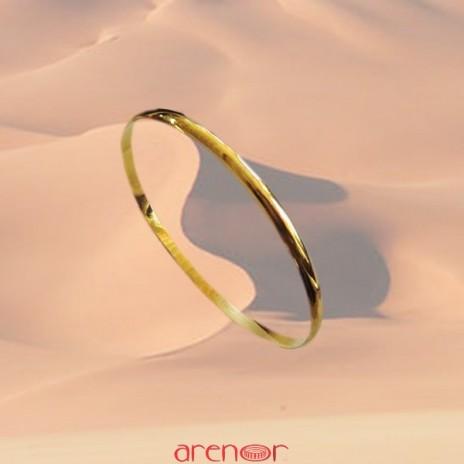 Bracelet jonc fil 1/2 jonc massif 3mm