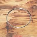 Bracelet or gris jonc massif fil rond or mat