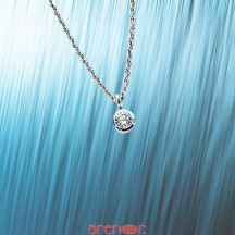 Collier tube avec diamant