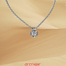 Collier pneu or gris diamant 0,13ct