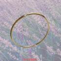 Bracelet jonc massif fil rond or jaune