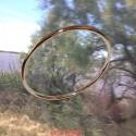 Bracelet jonc massif fil rond or rouge