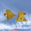 Boutons de manchettes or jaune Tour Magne de Nîmes
