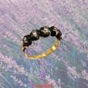 Bague Jeannette or jaune et argent avec diamants