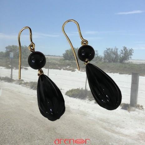 Boucles d'oreilles provençales onyx