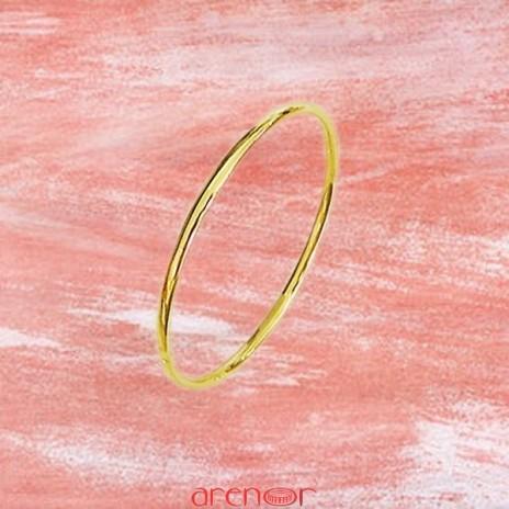 Bracelet jonc massif fil ovale