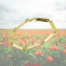 Bracelet 7 mailles plates or jaune