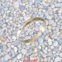 Alliance or gris demi jonc 3mm
