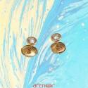 Boucles d'oreilles or jaune pneu avec diamants