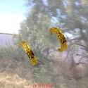 Boucles d'oreilles créoles or jaune avec diamants