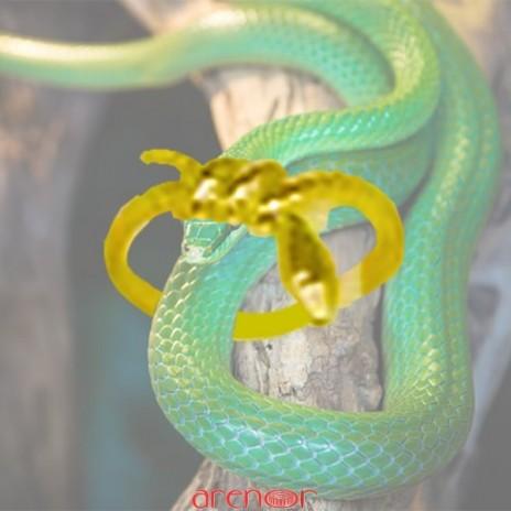 Bague serpent enroulée