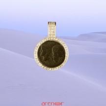 Entourage pièce romaine avec diamants