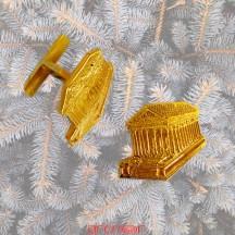Boutons de manchettes or jaune Maison Carrée de Nîmes