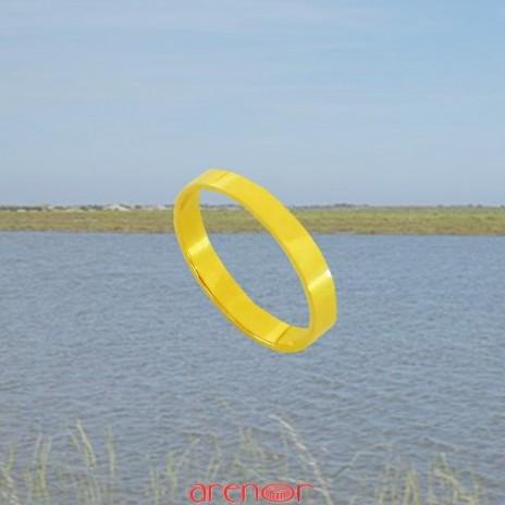 Alliance or jaune ruban plat