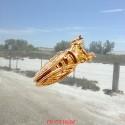 Cigale en or jaune montée en Pin's