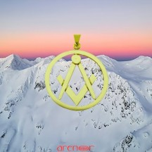 Pendentif or jaune de Maître