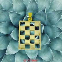 Pendentif or jaune pavé Mosaîque