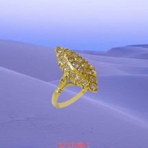 Bague marquise or jaune 21 diamants