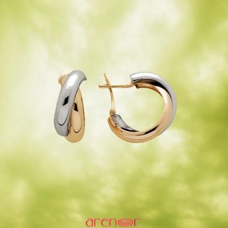 Boucles d'oreilles 2 fils croisés bicolores