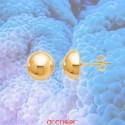 Boucles d'oreilles demi boules 8mm