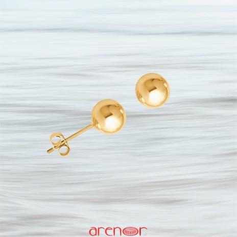 Boucles d'oreilles boules 6mm