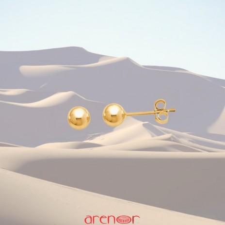 Boucles d'oreilles boules 4mm