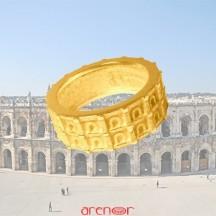 Bague Arènes de Nîmes or jaune