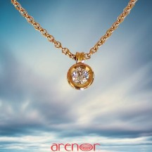 Collier pneu or Jaune diamant 0,25ct