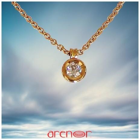 Collier pneu or Jaune diamant 0,25ct