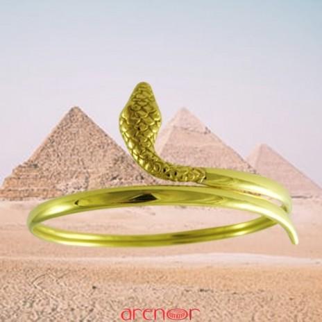 Bracelet jonc serpent fil ourlé