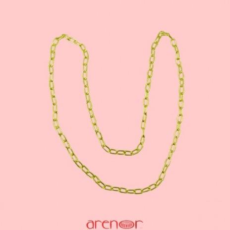Collier maille Arenor ronde en or jaune