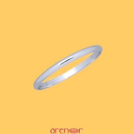 Bracelet argent demi jonc ovale