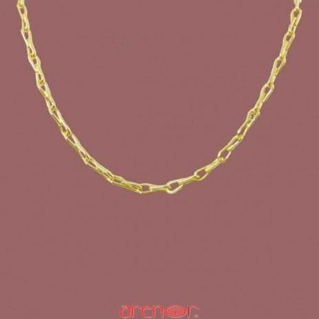 Collier maille épis en or jaune