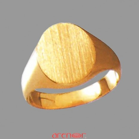 Chevalière ovale or jaune