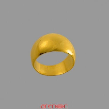 Chevalière anneau romain or jaune