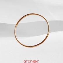 Bracelet or rouge jonc massif fil rond or mat