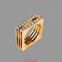 Bague Maison Carrée avec diamants